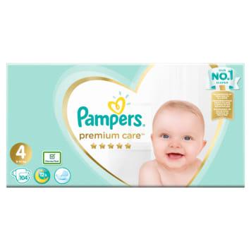 Jednorazowe pieluchy rozmiar 4 Maxi - Pampers. 5-gwiazdkowa ochrona delikatnej skóry dziecka.