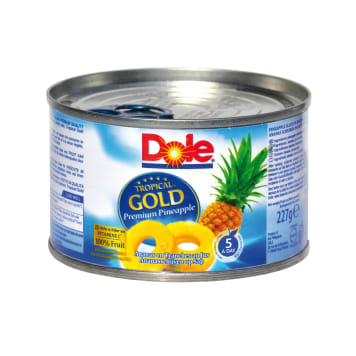 DOLE Tropical Gold Slices of pineapple in juice 227g