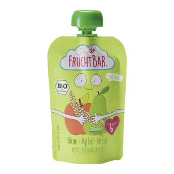 FRUCHTBAR Pear mousse, apple, millet BIO 100g