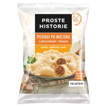 PROSTE HISTORIE Pierogi wiejskie z pieczarkami i mięsem 450g