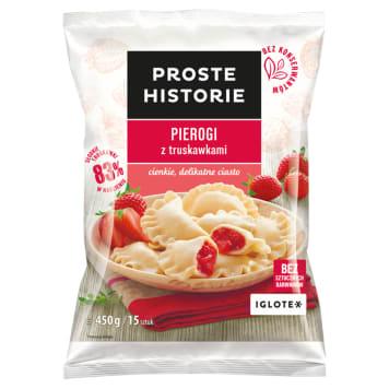 PROSTE HISTORIE Pierogi z truskawkami 450g
