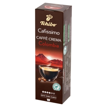 TCHIBO Cafissimo Roasted ground coffee in capsules Caffe Crema Colombia  10 caps 80g