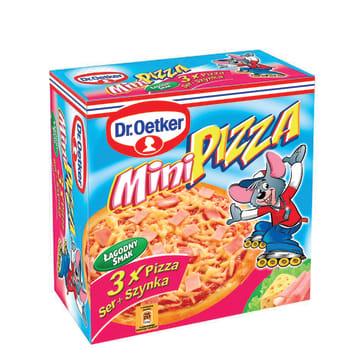 DR. OETKER Mini pizza Ser + Szynka 3 szt. 270g