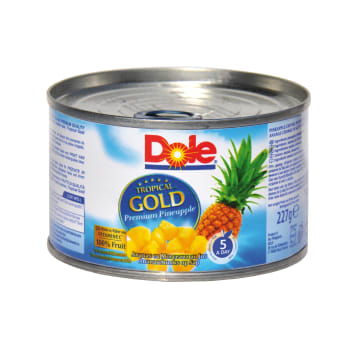 DOLE Tropical Gold Chunks of pineapple in juice 227 g