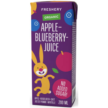 FRESHERY Apple-blueberry juice after 6 months BIO 200ml