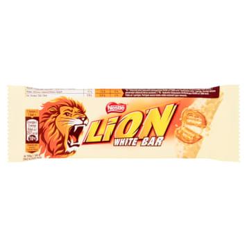 Nestle Lion- Baton White to popularna przekąska w białej czekoladzie.