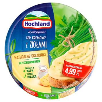 HOCHLAND-Ser topiony z ziolami 200g. Aksamitny serek idealny na śniadanie