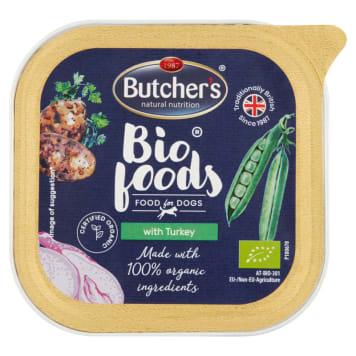 BUTCHER'S Bio Foods Karma dla psa z kurczakiem i indykiem BIO 150g