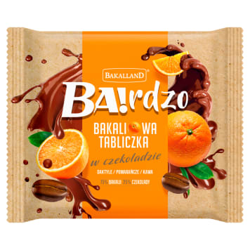 BAKALLAND BA!rdzo Plate of dried fruit - dates, orange, coffee 65g