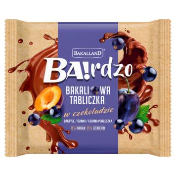 BAKALLAND BA!rdzo Plate of dried fruit - dates, plum and blackcurrant 65g