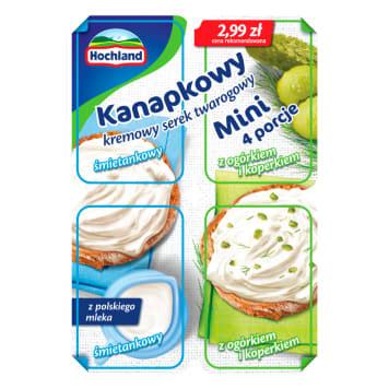 HOCHLAND Kanapkowy Curd curd cheese with cucumber and dill 4x30 g 120 g