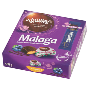 WAWEL Malaga cream with raisins + Danusia bar 468g