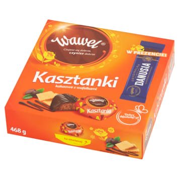 WAWEL Cocoa chocolates with wafers 430g + Danusia bar 468g