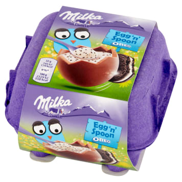 MILKA Egg 'n' Spoon Chocolate eggs from Alpine milk with Oreo filling 128 g