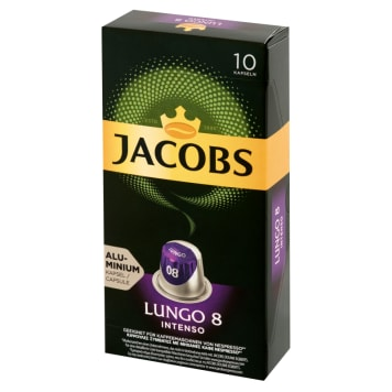 JACOBS Lungo Intenso Ground coffee in capsules 10 capsules 52 g