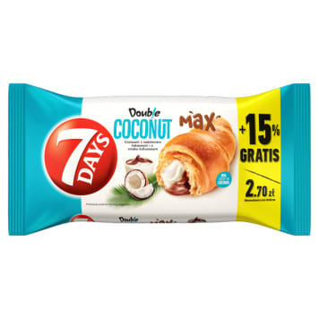 7 DAYS Doub!e Max Croissant with cocoa and coconut filling 110g