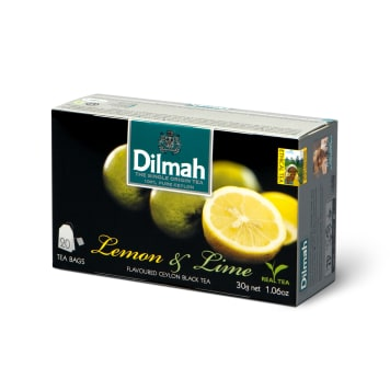 DILMAH Ceylon black tea with the aroma of lemon and lime 20 bags 30 g
