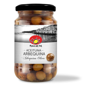 PLAZA DEL SOL Olives arbequina with stone 350g