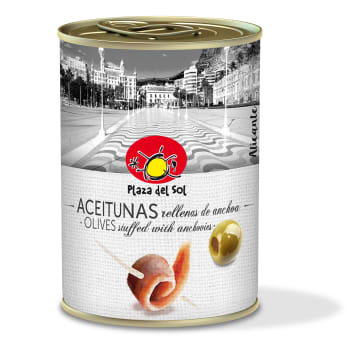 PLAZA DEL SOL Olives stuffed with anchovies 280g