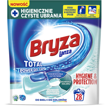BRYZA Hygiene&Protection Gel capsules for washing white and colored fabrics 28 pcs. 600 g