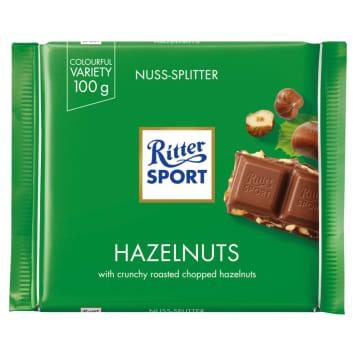 Czekolada mleczna z orzechami – Ritter Sport to słodycz najwyższej klasy.