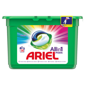 Kapsułki do prania kolorowych tkanin - Ariel. Zachowaj kolor i miękkość pranych ubrań na dłużej.