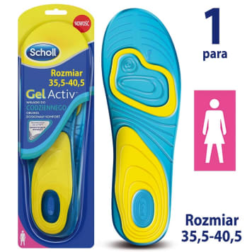 SCHOLL GelActiv Insoles for women s everyday shoes size 35.5-40.5 1pc