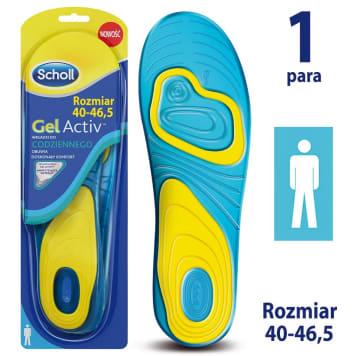 SCHOLL GelActiv Insoles for everyday men s shoes size 40-46.5 1pc