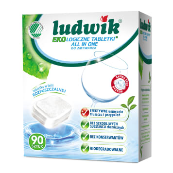 LUDWIK ALL IN ONE Organic tablets for dishwasher 90 pcs 0g