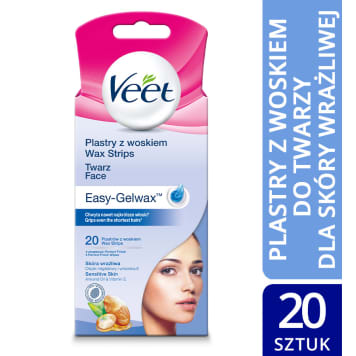 VEET Easy-Gelwax Slices with wax 20 pieces and 4 tissues 1pc