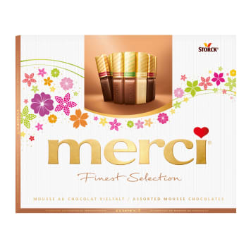 MERCI Finest Selection A collection of chocolates with chocolate mousse 210g