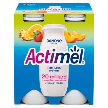 Wieloowocowy napój mleczny - Danone Actimel. Źródło bakterii L.Casei oraz witamin.