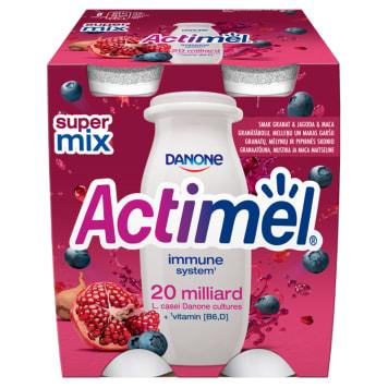 DANONE Actimel Milk drink with pomegranate-berry-maca flavor 4 pcs 400g