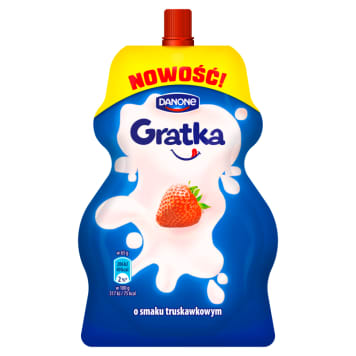DANONE Gratka Milk strawberry flavored dessert 65 g