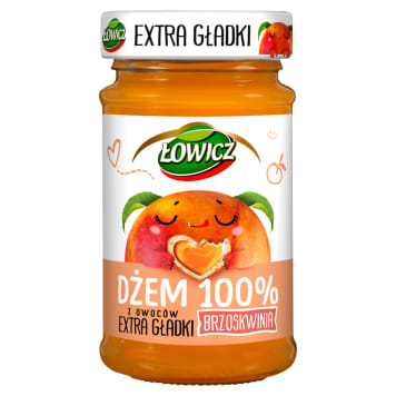 ŁOWICZ 100% fruit jam with a smooth smooth peach 235 g