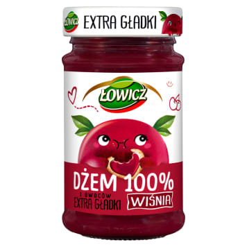 ŁOWICZ 100% fruit jam with smooth cherry 235g
