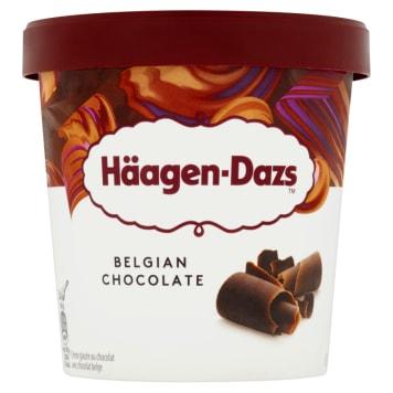 Lody Belgian Chocolate-Haagen Dazs. Produkowane z naturalnych składników najwyższej klasy.
