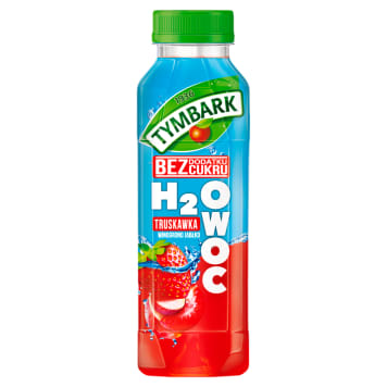 TYMBARK H2Owoc Strawberry drink with apple grape 400ml