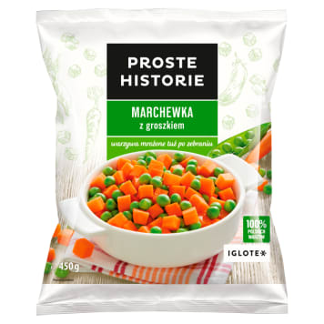 PROSTE HISTORIE Carrots with peas 450g