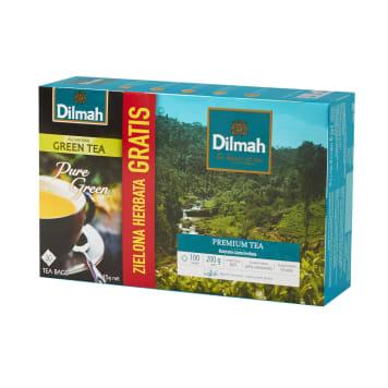 DILMAH Black tea 100 bags + Green tea 30 bags 245g