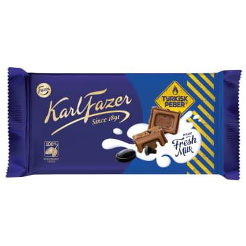 FAZER Milk chocolate with mint 145g