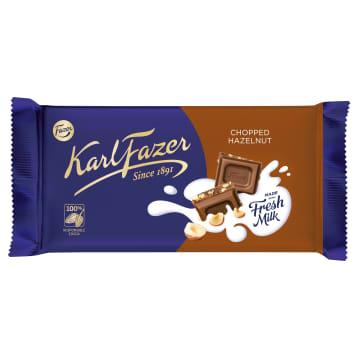 FAZER Milk chocolate with hazelnuts 145g