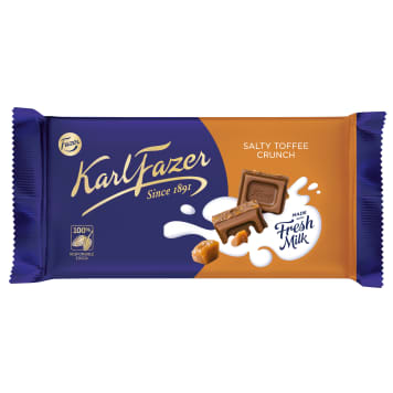 FAZER Chocolate with salted toffee 145g