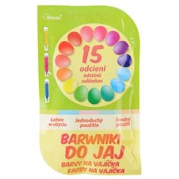 ARPEX Barwniki do jajek 15 kolorów 1szt