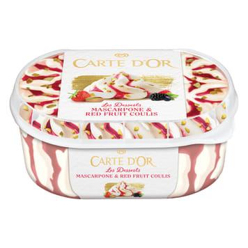 CARTE D'OR Gelateria Ice cream Mascarpone & Red Fruit Coulis 900ml