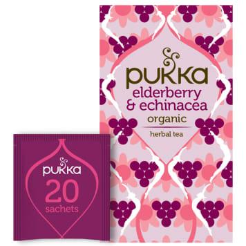 PUKKA Tea naturally flavored Elderberry&Echinacea BIO 20 bags 40g
