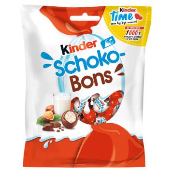 KINDER Schoko-Bons Czekoladki z mlecznej czekolady z nadzieniem mlecznym i orzechami 125g