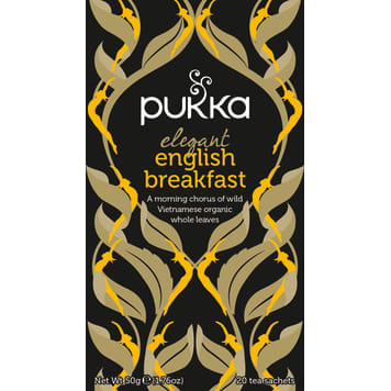 PUKKA Herbatka czarna aromat. Elegant English Breakfast BIO 20 torebek 50g