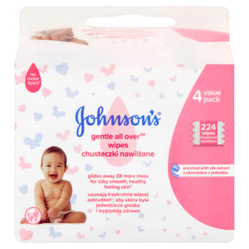 JOHNSONS® BABY Skin Care Odourless Tissues 4x64 1 pc