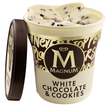 MAGNUM White Chocolate&Cookies Ice cream with a white chocolate flavor with cookies 440 ml